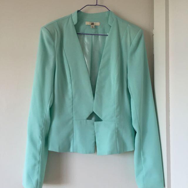 YA Los Angeles Mint Green Blazer, L