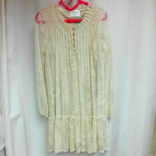 👚Final Sale🎆Korea Vintage Lace Top Dress