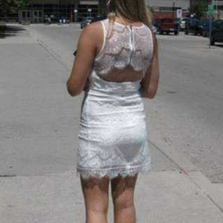 Lace White Dress. Mendocino Size Small. With Tags