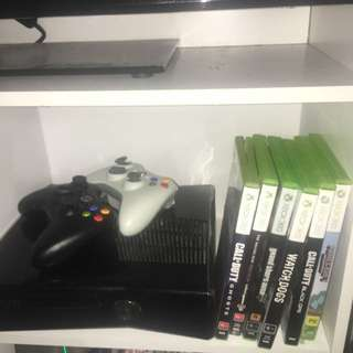 Xbox 360 Plus Games And Controllers