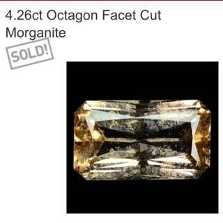 Shopping 4.26 Ct Octagon Facet Cut Morganite