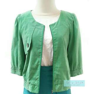 Solemio Semi Jacket in Green