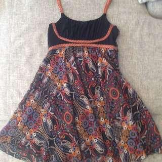 Floral Blockout Dress, Size M