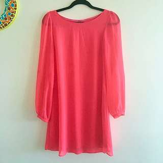 📮FREE POSTAGE Pink Atmosphere Pixie Dress
