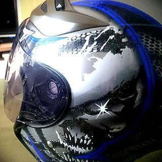 M2R 安全帽 J2 (藍水漂)