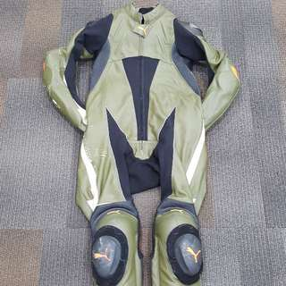 """DAINESE BY PUMA """"RARE & UNIQUE"""" , 1 PIECE LEATHER RACING TRACK SUIT"""