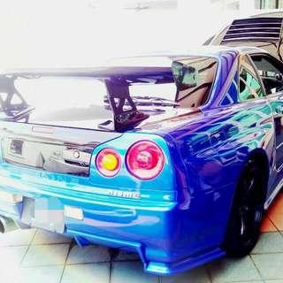 Nissan Skyline R34 ER34 GTT GTR RB25