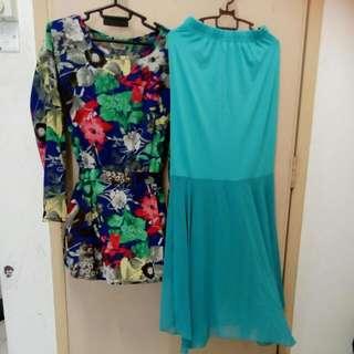 Blouse + Long Skirt