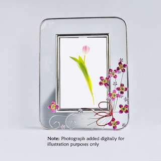PHOTO FRAME | Opaque with Metallic Flower Detail