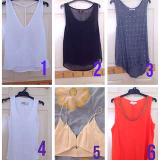 5 For $20!! Singlets And Crop Tops