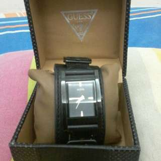 Guess Gents Leather Strap Watch - Limited Edition