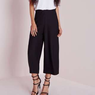 New Missguided Crepe Culottes Black