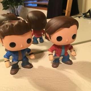 Sam & Dean Figures From Supernatural TV Show.