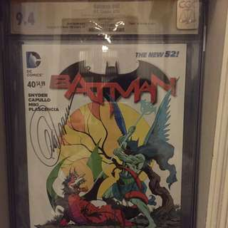 Batman 40 CGC SS 9.4 Signed By Snyder & Capullo