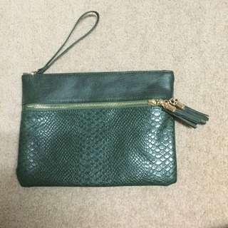 Target Clutch Bag (olive)