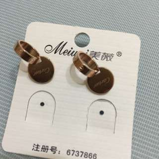 卡地亞同款 雙環耳環