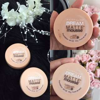 Maybelline Matte Mousse Foundations