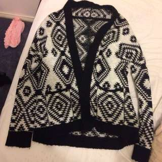 Thick Knit Waterfall Oversized Cardigan Size M/L