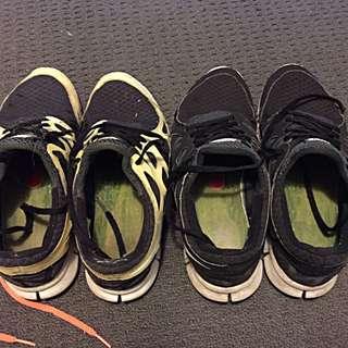 Nike Free Run 2 Pack, (black And grey, Volt And Black)
