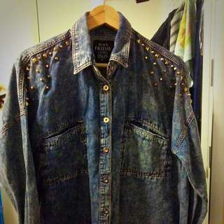 Rock Style Jeans Top Size 10
