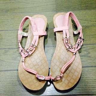 粉色海洋風涼鞋 ❤️❤️