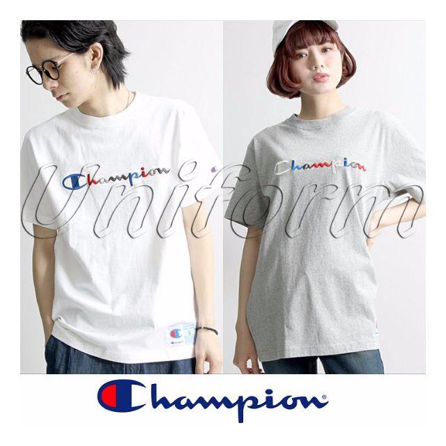 2016 Champion 冠軍 彩虹 彩色 漸層 刺繡 草寫字體 短T 情侶款 日系