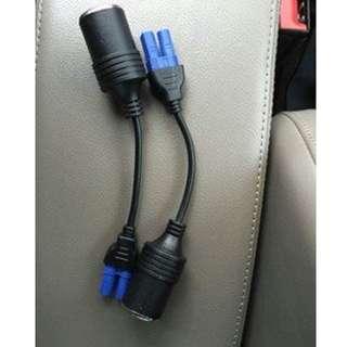 唔想撻住車吸塵,洗車?汽車緊急電源配件12V藍插轉點煙座線,市面上基本大部分緊急電源都岩用!