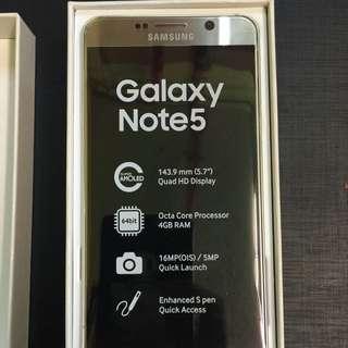 Samsung Note 5 64GB Gold Platinum