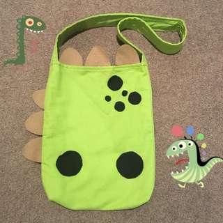 Handmade dinosaur tote bag