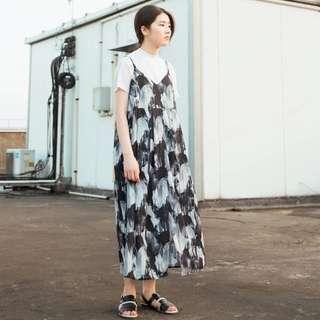水墨 設計 吊帶 洋裝