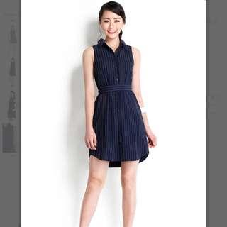 Lilypirates Love Bonito Minimalist Edit Dress In Midnight Blue