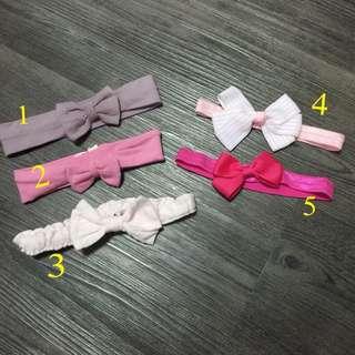 韓版英倫運動風寶寶蝴蝶結髮帶 頭花 頭帶 彈性大