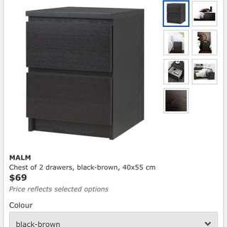 Ikea Malam Bedside Table