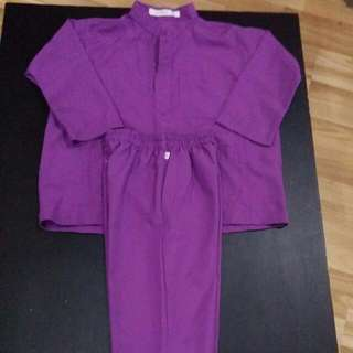 Purple Baju Kurung for Boys (Age 3)