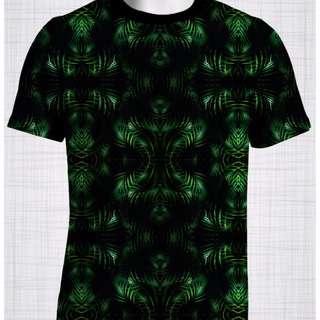 Plus Size Men's Clothing Palm Reflect t-shirt T006