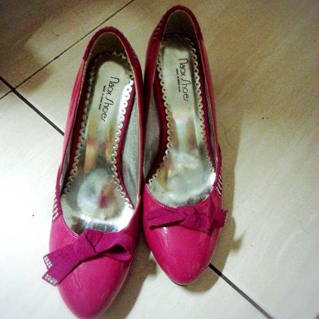 專櫃桃紅鞋 9成新
