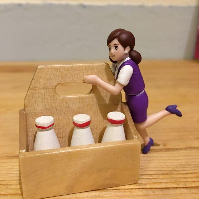 免運✨袖珍 迷你牛奶箱 擺飾 小物 裝飾 扭蛋玩具可用