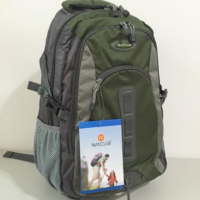 輕量透氣運動後背包 -【Navy Club 6261】- 登山包 休閒包 筆電包 書包