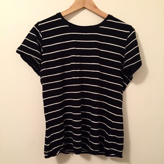 Black Striped Tee