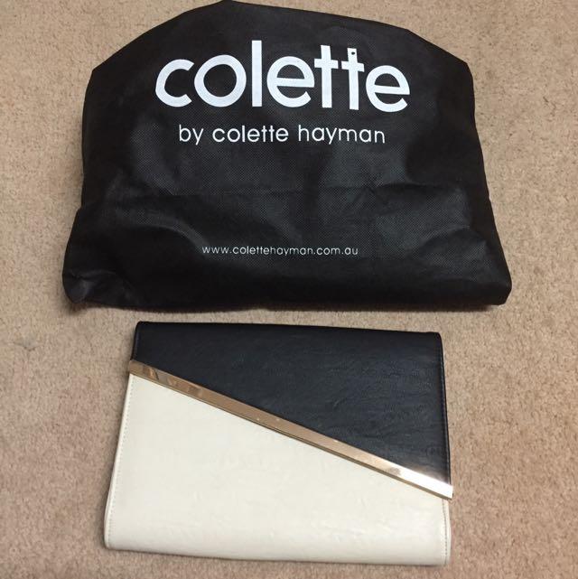 Colette Clutch Bag (black/beige)