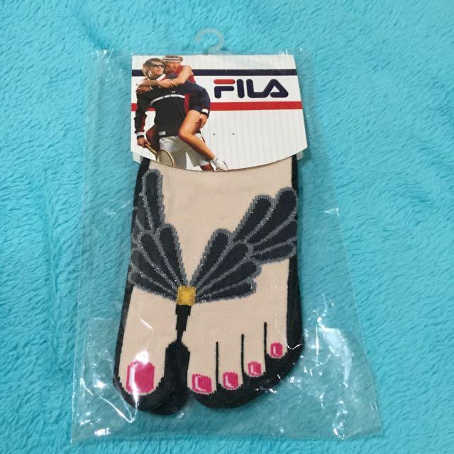 FILA Split Toe Ankle Socks (Black)