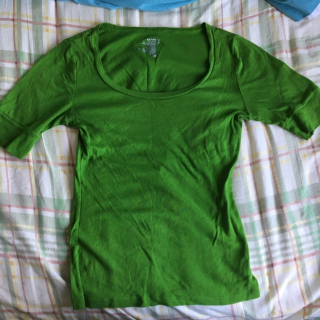Green Mid Sleeve Tshirt