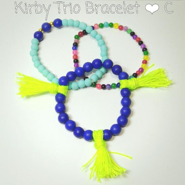 Handmade Trio Bracelet (arm candy)