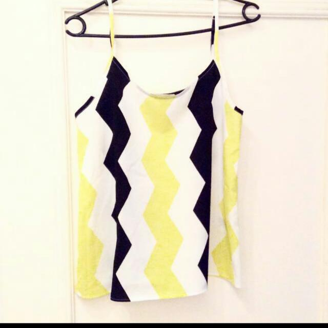 (REDUCED!!) H&M Stripe Top In Yellow And Black