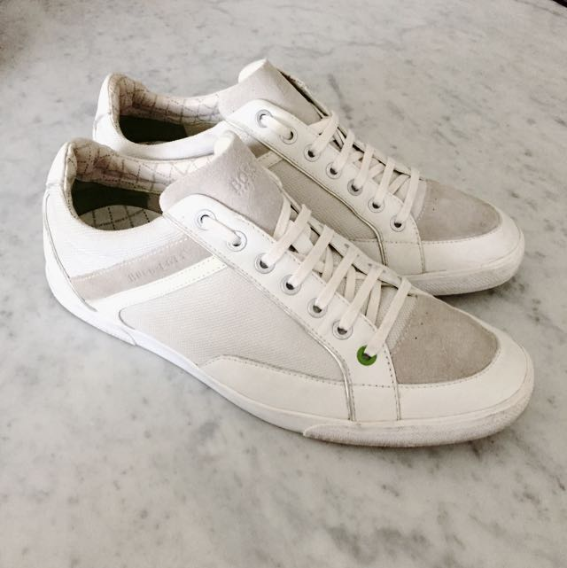 *PRICE REDUCED* HUGO BOSS White top Sneakers