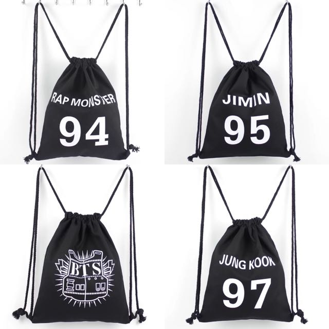 Instocks  BTS Drawstring Bag
