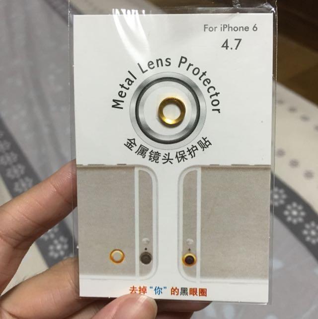 Iphone6 鏡頭保護圈(金色)