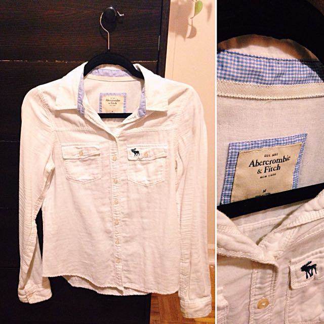 Long-sleeve White Button-up (A&F)