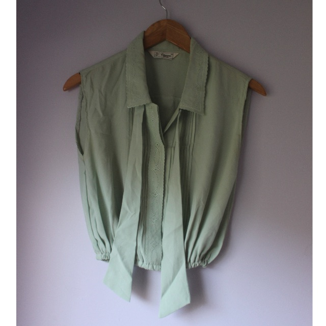 Mint Green Vintage Blouse
