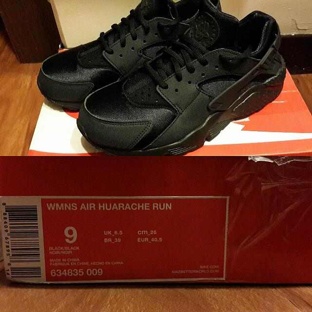 (含運)NIKE WMNS AIR HUARACHE RUN 黑武士